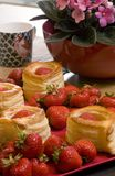 Sweets With Strawberry Stock Photos