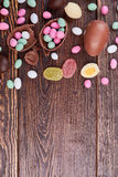 Sweets on wood, copyspace. Royalty Free Stock Photography
