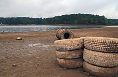 Sweetwater Creek Park drought Stock Images