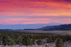 Sweetwater wschód słońca Nevada Zdjęcia Royalty Free