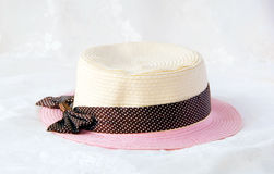 Sweety straw hat. Royalty Free Stock Photo