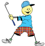 Sweevies Golfer. About to take a swing Stock Image