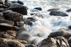 Swell on the rock Royalty Free Stock Photography