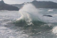 Backwash Whiplash Waves Wave power Royalty Free Stock Photos