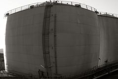 Swelling oil tank Stock Image