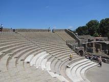 Sweltering άνοδοι θερμότητας πέρα από τις καταστροφές της Πομπηίας στην Ιταλία στοκ εικόνα με δικαίωμα ελεύθερης χρήσης