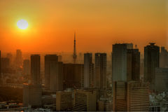 Sweltering Tokyo. Tokyo swelters in the heat of a hot afternoon stock image