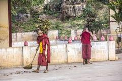 2 sweping монаха Стоковое фото RF