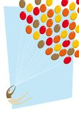 Swept away - balloon vector illustration Royalty Free Stock Image