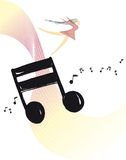 Swept away - music vector ilustration Royalty Free Stock Photos