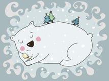 Swetty polar bear Stock Images