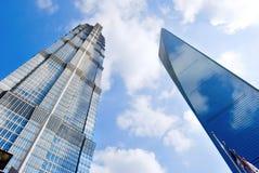 SWFC e Jin Mao Tower Fotografia Stock Libera da Diritti