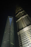 SWFC & Jin Mao Tower Royalty Free Stock Photography