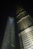 SWFC y torre de Jin Mao Fotografía de archivo libre de regalías