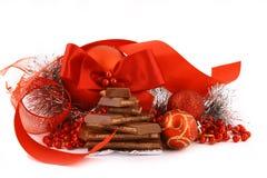swiat czekoladowy prezent Obraz Royalty Free