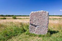Swidish rune stone Royalty Free Stock Photo