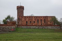 Swiecie. Old Teutonic castle in Swiecie. Poland Stock Images