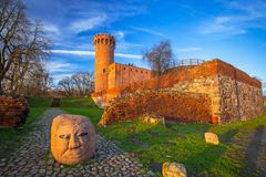 Architecture of the Teutonic Castle in Swiecie, Poland Royalty Free Stock Image