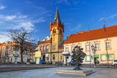 Architecture of the town hall in Swiecie, Poland. SWIECIE, POLAND - DECEMBER 10, 2017: Architecture of the town hall in Swiecie, Poland. Swiecie is a historical Stock Image