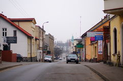 Swiecie street. Street view in the city of Swiecie, Poland Stock Image
