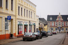 Swiecie street view Royalty Free Stock Images