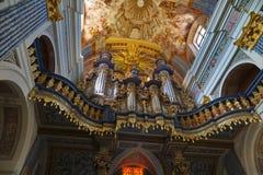 Swieta Lipka,Poland-JUNE 25,2008:Church baroque organs of Our Dear Lady Church Stock Images