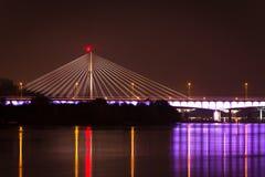 Swietokrzyski桥梁在华沙 库存图片