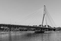 The Swietokrzyski Bridge Royalty Free Stock Photos