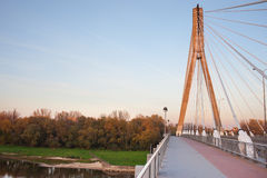 Swietokrzyski Bridge in Warsaw Royalty Free Stock Photo