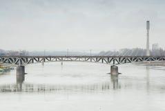 Swietokrzyski Bridge, Warsaw, Poland. Stock Image