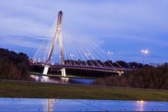 Swietokrzyski Bridge - Warsaw, Poland Stock Photo