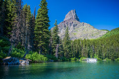 Swifcurrent ferry, swiftcurrent lake Royalty Free Stock Photo