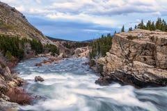 Swift Current Creek in Glacier National Park Stock Image