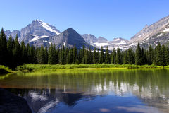 Swift current lake. Scenic Swift current  lake  near  Many glaciers ,Montana Stock Photos