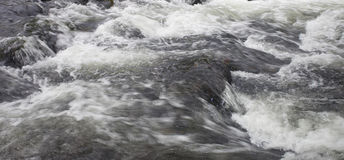 Swift moving water Royalty Free Stock Photography