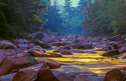 Swift river in Autumn White Mountains, New Hampshire Royalty Free Stock Photo