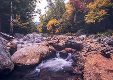 Swift river in Autumn White Mountains, New Hampshire Royalty Free Stock Image