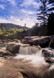 Swift river in Autumn White Mountains, New Hampshire Stock Photos