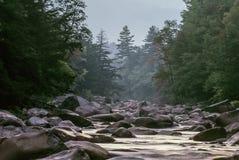 Swift river in Autumn White Mountains, New Hampshire Royalty Free Stock Photos