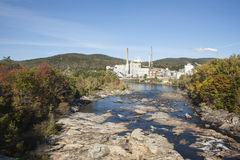 Swift River flowing through Rumford, Maine, Stock Photography