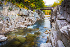 The Swift River at Rocky Gorge, on the Kancamagus Highway, in Wh Stock Photography