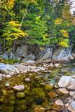 The Swift River at Rocky Gorge, on the Kancamagus Highway, in Wh Royalty Free Stock Photos