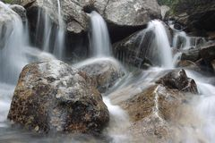 Swift torrent in High Tatras mountains Stock Image