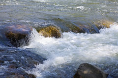 Swift Water. Rapids in the Kern River of California Royalty Free Stock Photo