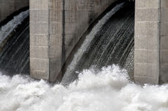 Swift water of Truman dam at Warasaw Missouri USA Stock Photography