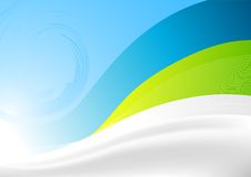 Swift Waves. Vector illustration. Flowing waves background Royalty Free Stock Image