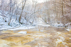 Swift winter river Royalty Free Stock Photo