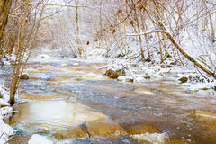 Swift winter river Royalty Free Stock Photography