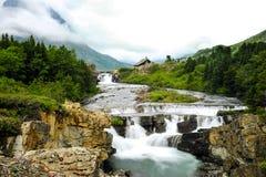 Swiftcurrent Creek Glacier National Park Stock Image