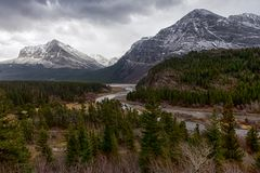 Swiftcurrent Creek in Montana royalty free stock photo